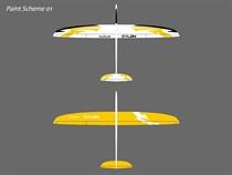 Cylon - CFK - weiß/gelb