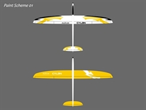 Cylon - E - CFK - weiß/gelb