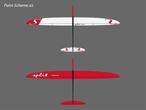 Split - Segler - weiß/rot