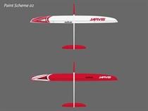 Jarvis - Elektro - CFK - weiß/rot