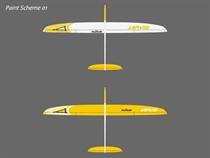 Jarvis - Elektro - CFK - weiß/gelb