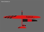Tomcat GFK - Elektro - rot/schwarz