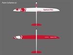 Typhoon Plus E CFK weiß/rot + Servoset